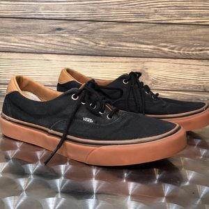 Vans Black Leather Sneakers